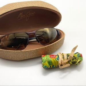 Maui Jim Polarized Black Coral Sunglasses EUC